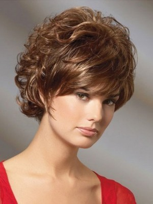Beautiful Short Wavy Cut Remy Human Hair Wig
