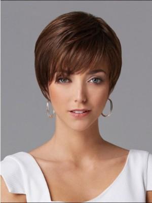 Fashionable Short Straight Human Hair Wig