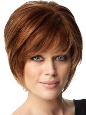 Sweet Soft Layers Human Hair Short Capless Wig