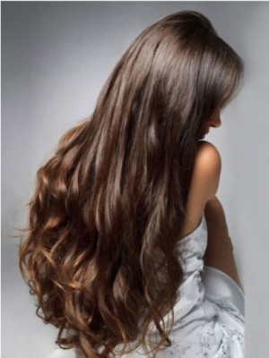 Stunning Capless Wavy Perfect Remy Human Hair Wig