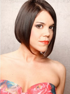 Attractive Short Lace Front Straight Remy Human Hair Wig