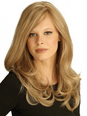 Cute Long Wavy Lace Remy Human Hair Wig
