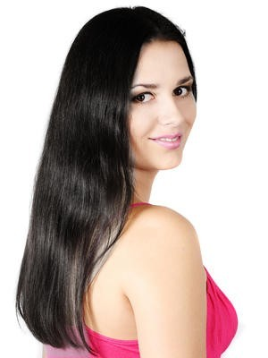 Awesome Long Length Human Hair Lace Front Straight Wig