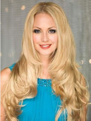 Soft Lace Front Wavy Fantastic Human Hair Wig