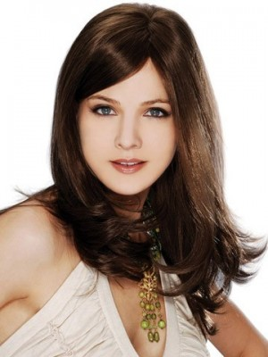 Attractive Remy Hair Full Lace Straight Wig