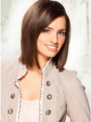 Durable Full Lace Straight Human Hair Wig