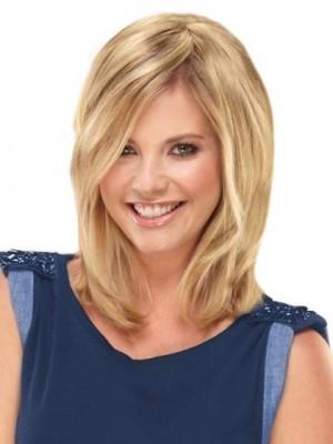 Charming Capless Blonde Straight Human Hair Wig