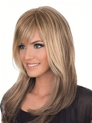 Magnificent Full Lace Wig With Bangs