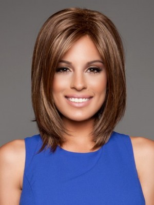 Smooth Lace Front Auburn Human Hair Wig