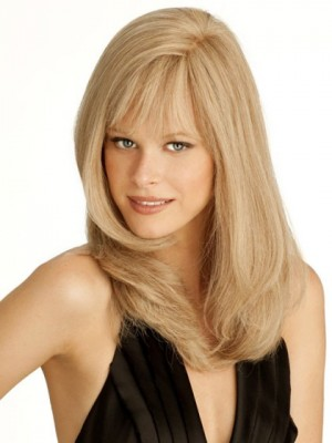Stylish Capless Human Hair Straight Wig