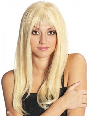 Admirable Long Human Hair Hand-Tied Straight Full Lace Wig