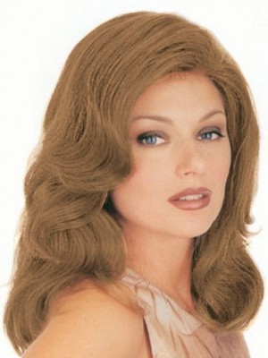 Stupendous Long-Length Wavy Front Lace with Mono Human Hair Wig