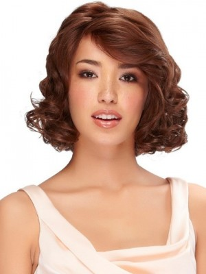 Capless Glamorous Wavy Remy Human Hair Wig