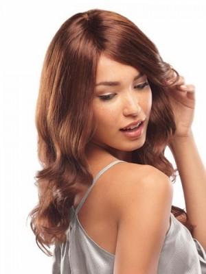 Elegant Human Hair Long Length Wavy Capless Wig