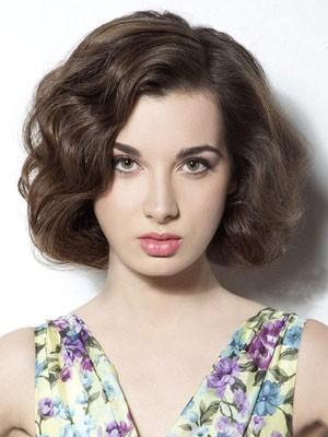 Pretty Wavy Human Hair Full Lace Wig
