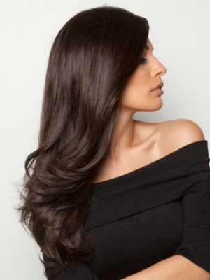 New Style Long Layers And Loose Waves Front Lace Human Hair Wig