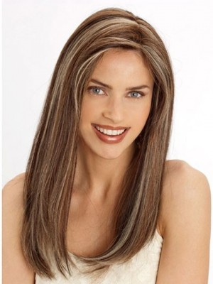 Chic Lace Front Long Straight Remy Hair Wig