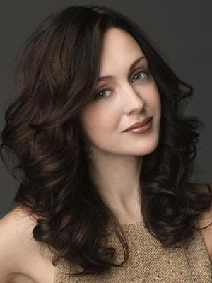 Polished Lace Front Long Wavy Human Hair Wig