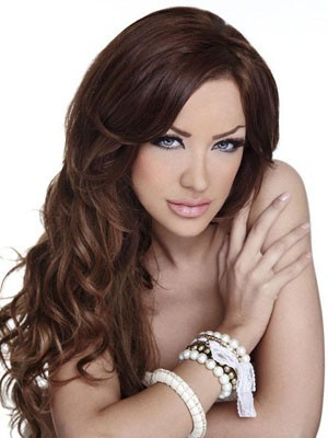 Concise Lace Front Long Wavy Human Hair Wig