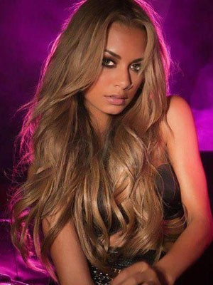 Nice-looking Long Wavy Human Hair Lace Front Wig