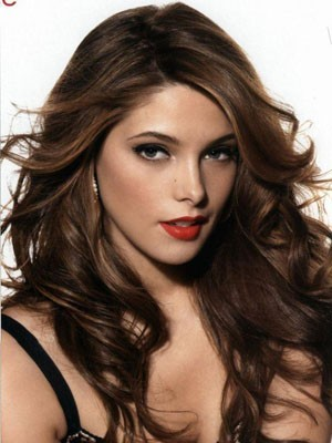 Graceful Long Wavy Human Hair Lace Front Wig