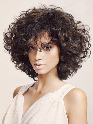 Pretty Short Length Human Hair Wavy Capless Wig
