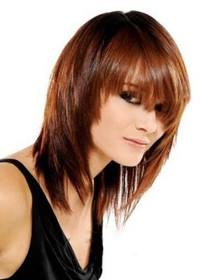 Most Popular Medium Straight Capless Human Hair Wig
