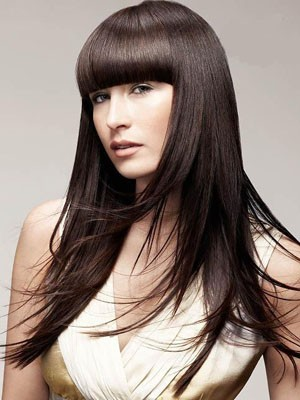 Pretty Long Straight Capless Human Hair Wig