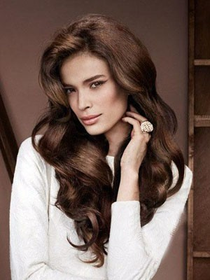 Graceful Lace Front Wavy Remy Human Hair Wig