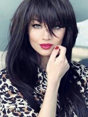 Elegant Straight Remy Human Hair Capless Wig