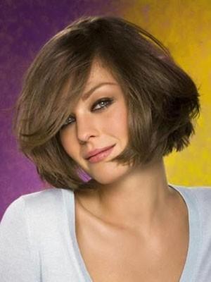 Glamorous Straight Capless Medium Length Human Hair Wig
