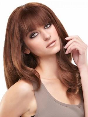 Cute Lace Front Long Wavy Remy Human Hiar Wig