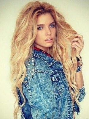 Marvelous Human Hair Wavy Lace Front Wig