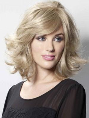 Modern Capless Wavy Human Hair Wig