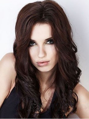 Flattering Wavy Lace Front Remy Human Hair Wig
