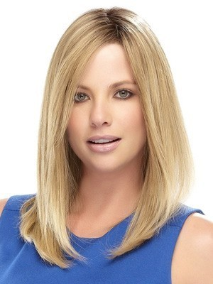 "Romantic 16"" Lace Front Straight Remy Human Hair Wig"