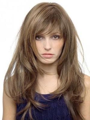 Elaborately Capless Human Hair Long Straight Wig