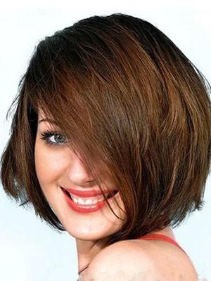 Charming Capless Medium Length Human Hair Wig