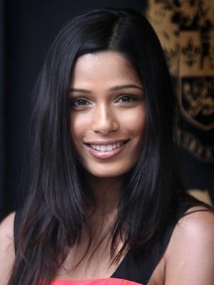 Elegante Black Long Straight Lace Front 100% Human Hair Wig