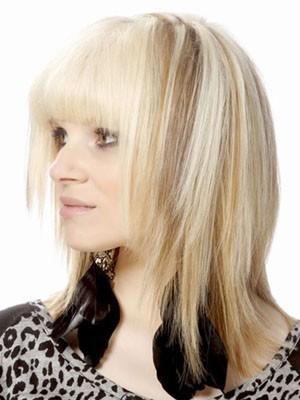 Pretty Capless Medium Length Human Hair Wig