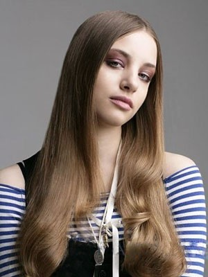Classic Lace Front Long Human Hair Wig