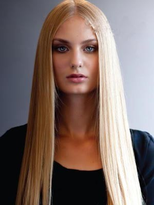 Charming Remy Human Hair Straight Lace Front Wig