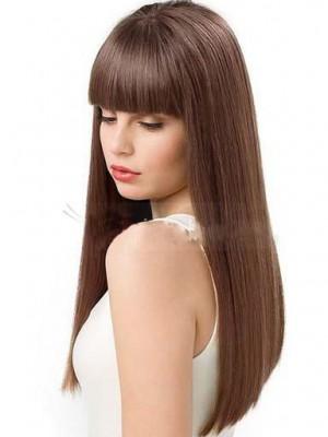 Pretty Human Hair Straight Capless Wig