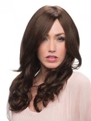 Attractive Human Hair Wavy Capless Wig