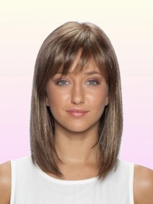 Charming Mid-Length Lace Front Human Hair Wig