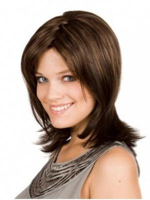 Dazzling Capless Human Hair Straight Wig