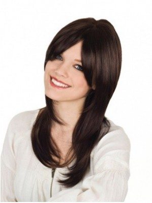 Shimmering Remy Human Hair Straight Capless Wig