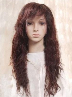 Romantic Remy Human Hair Wavy Lace Wig For Woman