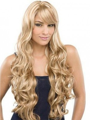 Full Lace Lovely Water Wavy Remy Human Hair Wig For Woman