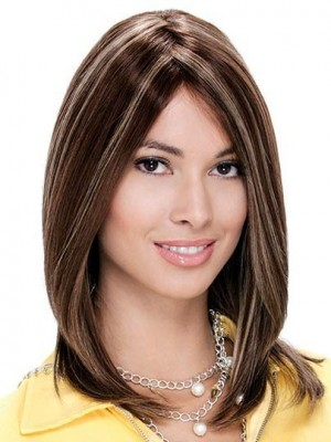 Remy Human Hair Mono Straight Wig For Woman